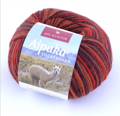 50g Alpaka Sockengarn in Kupfer / Orange