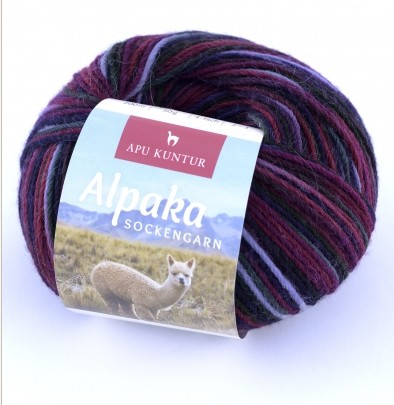 50g Alpaka Sockengarn in Violett / Lila