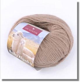 50g Baby Alpakawolle in Hellbeige / Naturfarbe