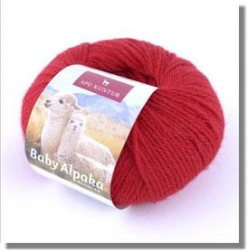 50g Baby Alpakawolle in Rot