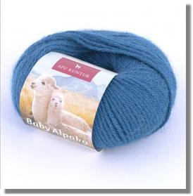 50g Baby Alpakawolle in Blau