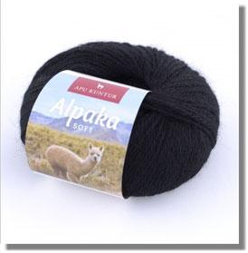 50g Alpakawolle Soft in Schwarz