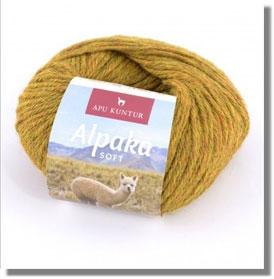 50g Alpakawolle Soft in Senfgelb Melange