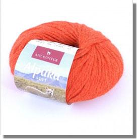 50g Alpakawolle Soft in Orange
