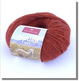 50g Alpakawolle Soft in Kupfer Melange