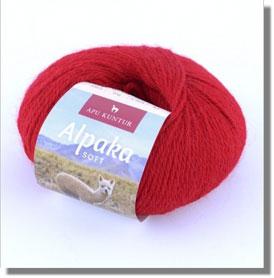 50g Alpakawolle Soft in Rot