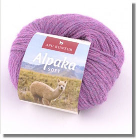 50g Alpakawolle Soft in Lila Melange