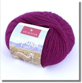 50g Alpakawolle Soft in Violett