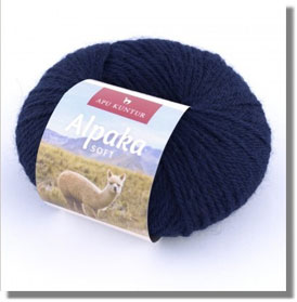 50g Alpakawolle Soft in Dunkelblau