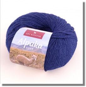 50g Alpakawolle Soft in Oceanblau