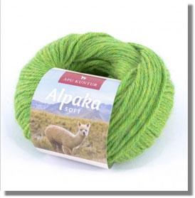 50g Alpakawolle Soft in Grün