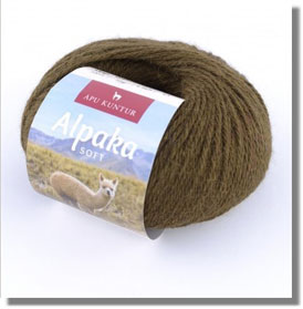 50g Alpakawolle Soft in Olive