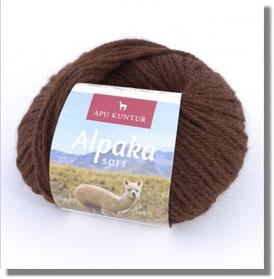50g Alpakawolle Soft in Dunkelbraun