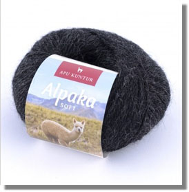 50g Alpakawolle Soft in Anthrazit