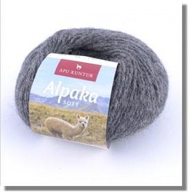 50g Alpakawolle Soft in Dunkelgrau