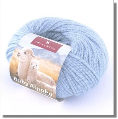 50g Baby Alpakawolle in Eisblau