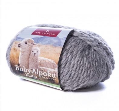 50g Baby Alpakawolle ungefärbt Nadelstärke 8 Mittelgrau