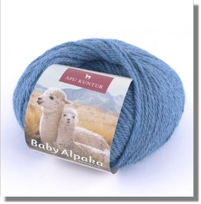 50g Baby Alpakawolle in Blau Melange