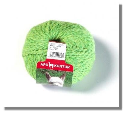 50g Baby Alpakawolle Nadelstärke 8 Grün