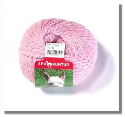 50g Baby Alpakawolle Nadelstärke 8 Rosa Melange