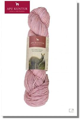 50g Baby Alpaka Wolle 100% Naturfarben Himbeere