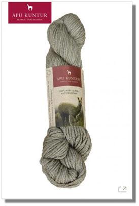 50g Baby Alpaka Wolle 100% Naturfarben Stroh