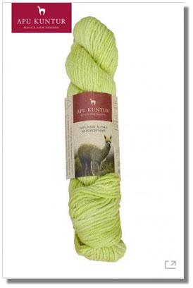 50g Baby Alpaka Wolle 100% Naturfarben Wiesengrün