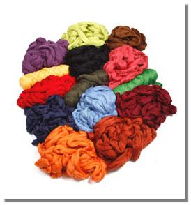 Spinnband in vielen Farben