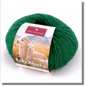 50g Baby Alpakawolle Seegrün Melange