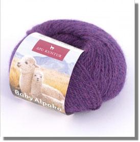 50g Baby Alpakawolle Violett Melange
