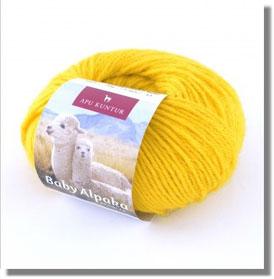 50g Baby Alpakawolle Zitronengelb