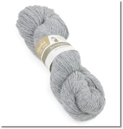 100g Alpakawolle in Grau