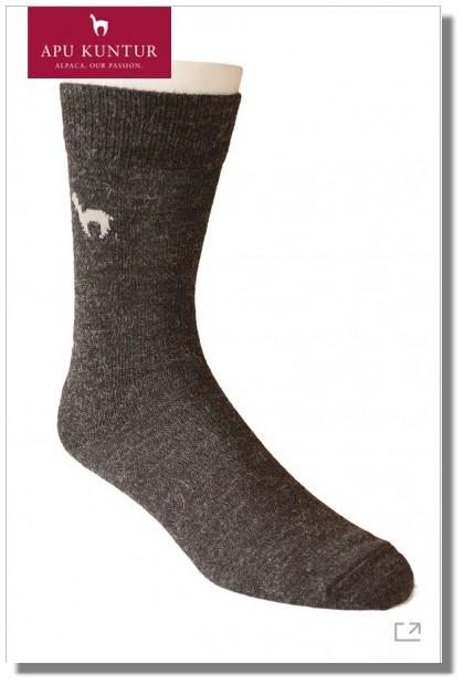 Alpaka Business Socken mit APU KUNTUR Logo