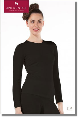 THERMO-UNTERHEMD Langarm 95% Royal Alpaka Damen