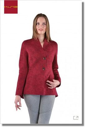 Damen Jacket gefilzt ORTIGA Alpaka Wolle Baumwolle