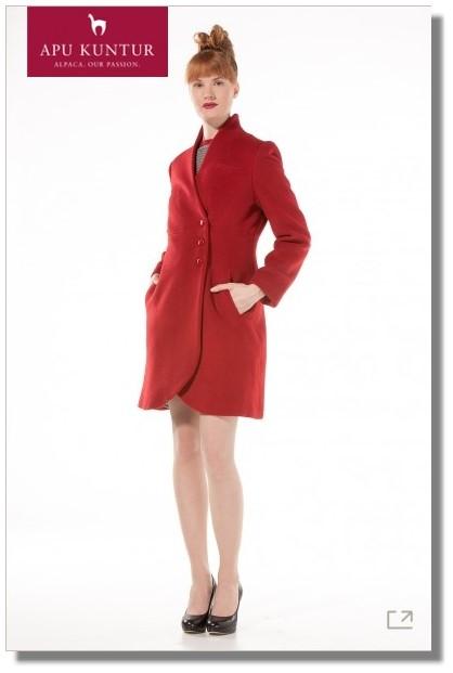 the latest 9a24c a4b64 Damen Mantel SUE aus Alpaka Wolle