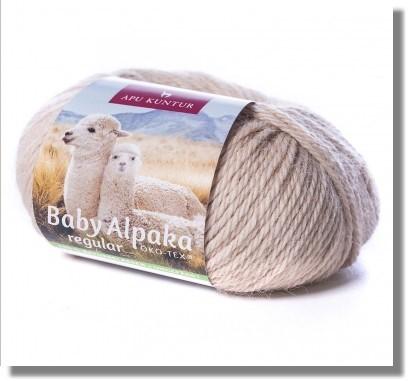 Beige ungefärbt 50g Baby Alpakawolle
