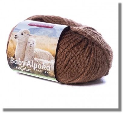 50g Baby Alpakawolle ungefärbt in Braun