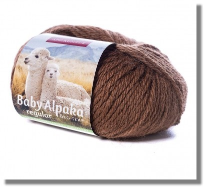 Braun ungefärbt 50g Baby Alpakawolle