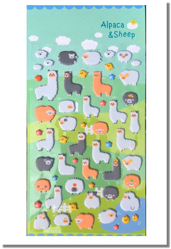 Alpaka Schaf 3D Sticker Aufkleber
