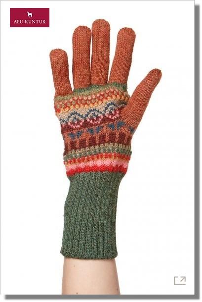 Jacquard-Finger-Handschuhe LUNA Baby Alpaka Damen