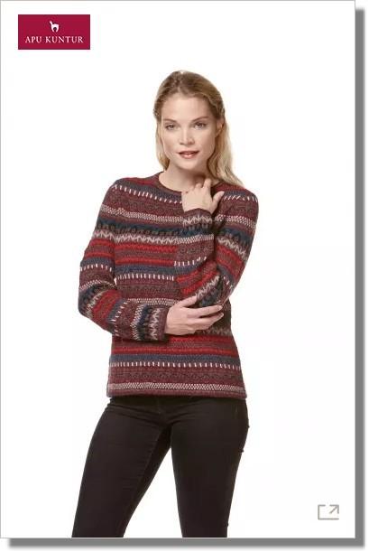 Jacquard-Strick-Pullover MIA reines Baby Alpaka Damen