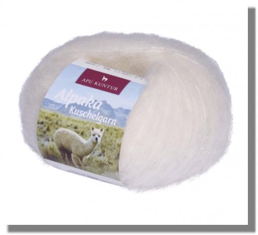 Alpaka Wolle Wollweiss 50g Kuschelgarn