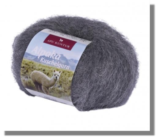 Alpaka Wolle Grau 50g Kuschelgarn