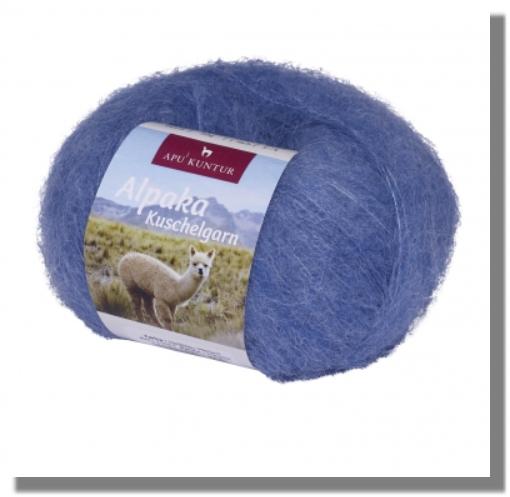 Alpaka Wolle Hellblau Meliert 50g Kuschelgarn