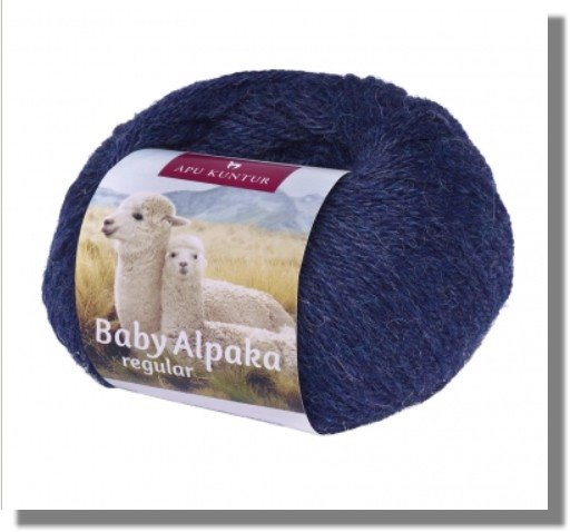 Dunkelblau Melange 50g Baby Alpakawolle