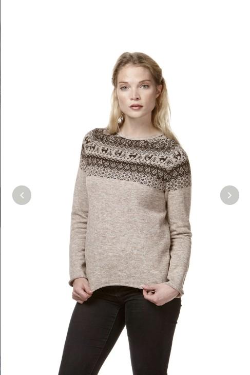 Winter Strick-Pullover ANDEN reines Alpaka Damen