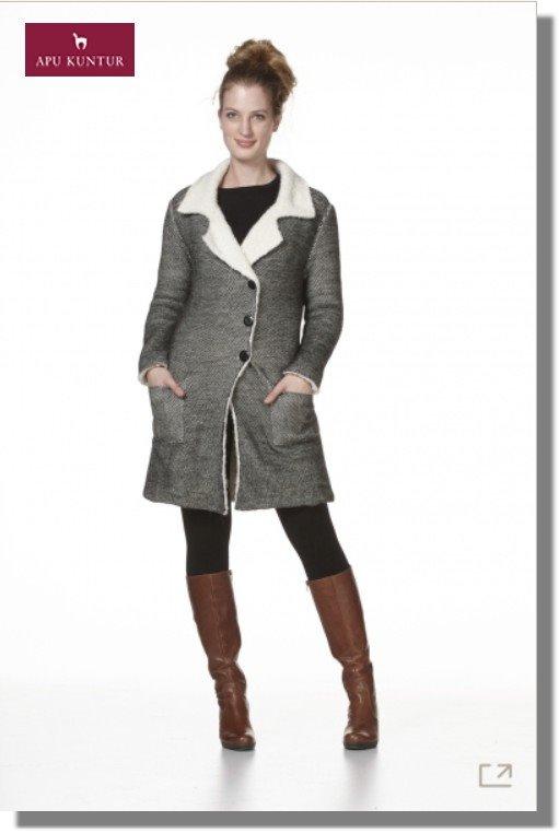 Damen Long-Jacke BRAM Alpaka mit Futter