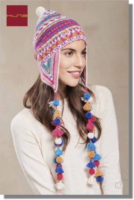 Inka-Mütze Chullo REGANE HAT mit Ohrenklappen Alpaka Wolle Damen Herren