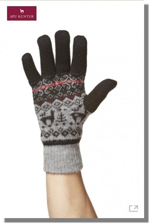 Finger-Handschuhe ANDEN VIENTOS Alpaka gefüttert Damen Herren